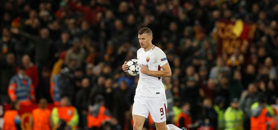Edin Dzeko proves he would be the perfect number nine for Newcastle United