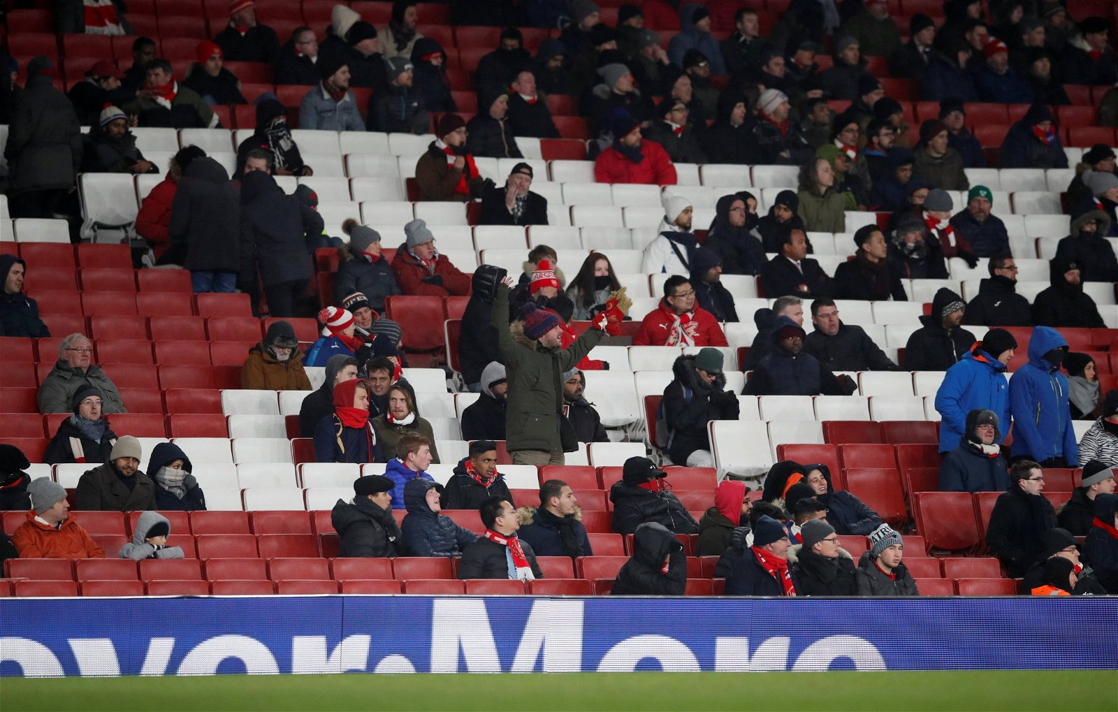 Empty Seats at the Emirates Stadium