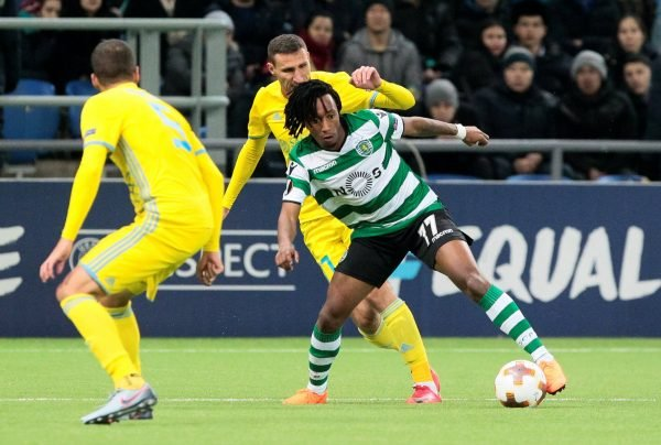 Gelson Martins in action for Sporting