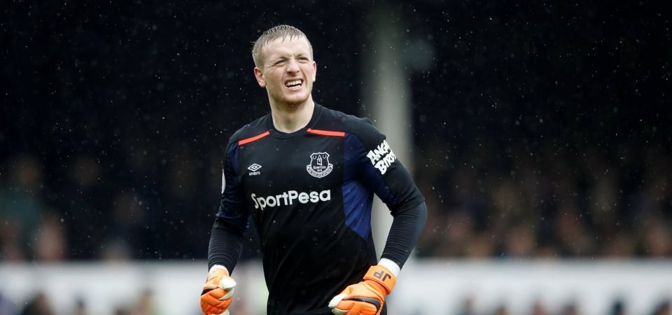 Everton fans are thankful for Jordan Pickford after goalless Liverpool draw