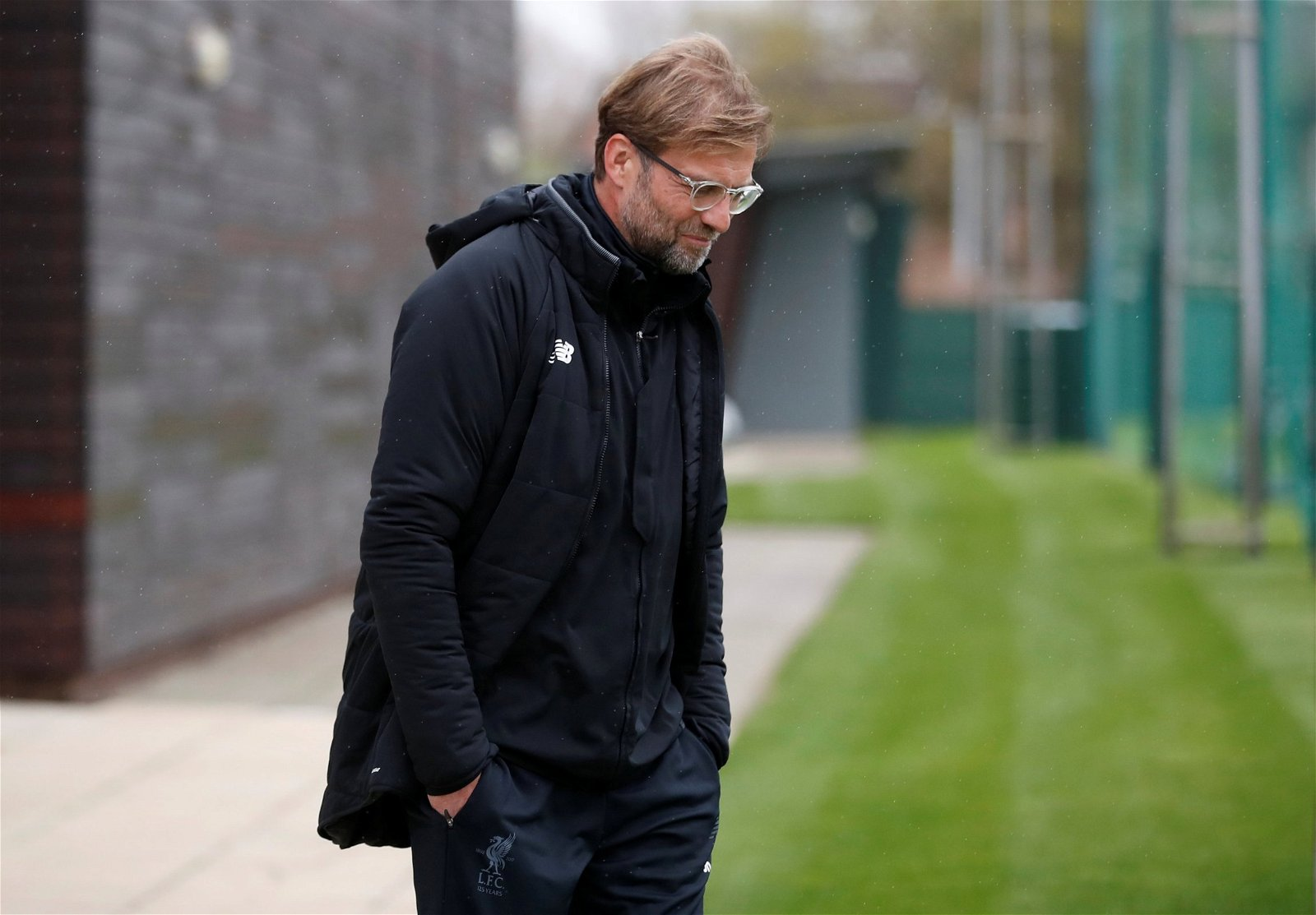 Jurgen Klopp at Liverpool's training ground