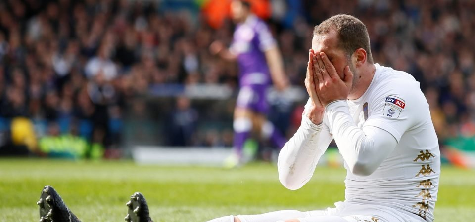 Leeds supporters were not happy with Lasogga's Saturday performance