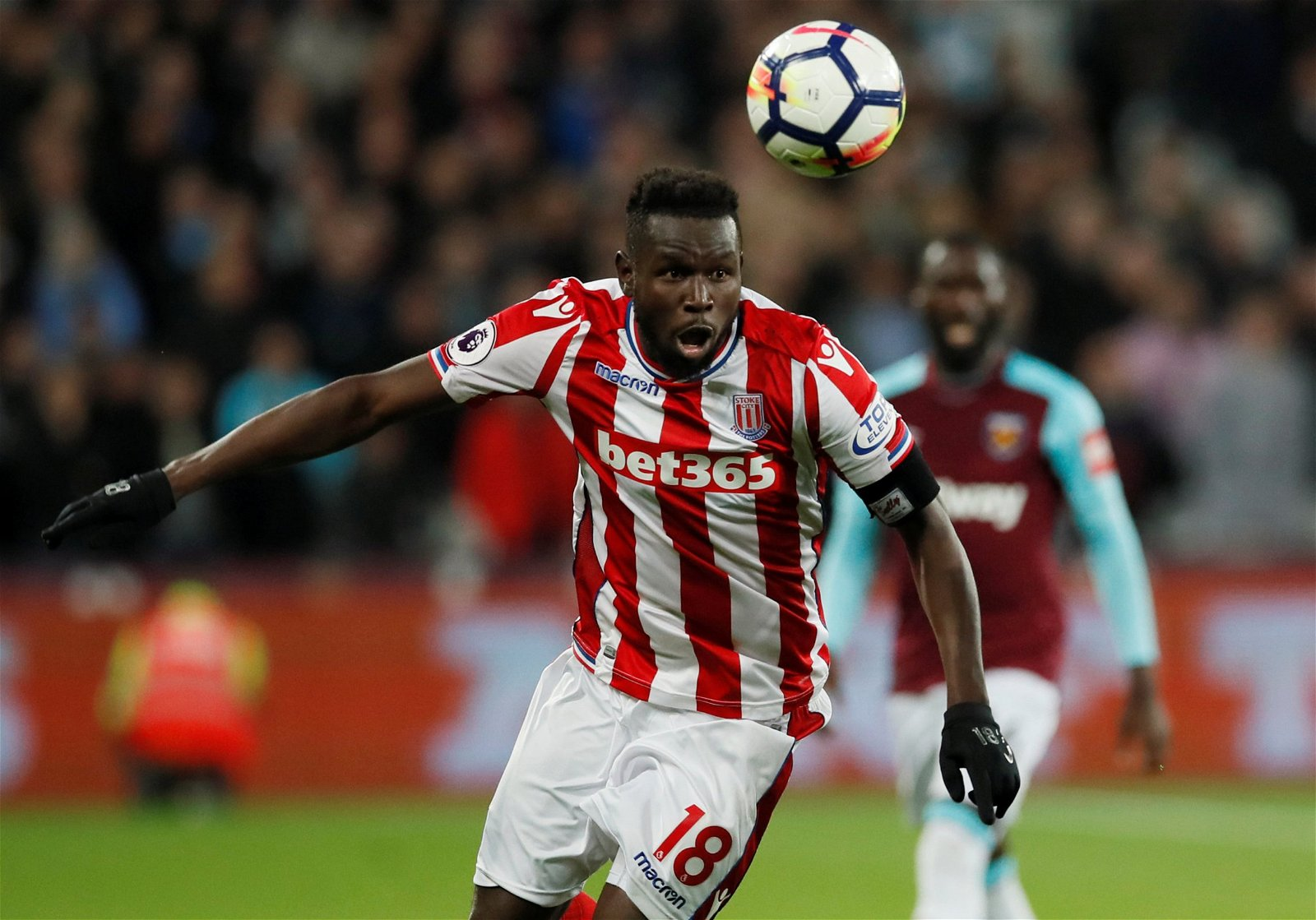 Mame Biram Diouf hunts down the ball against West Ham