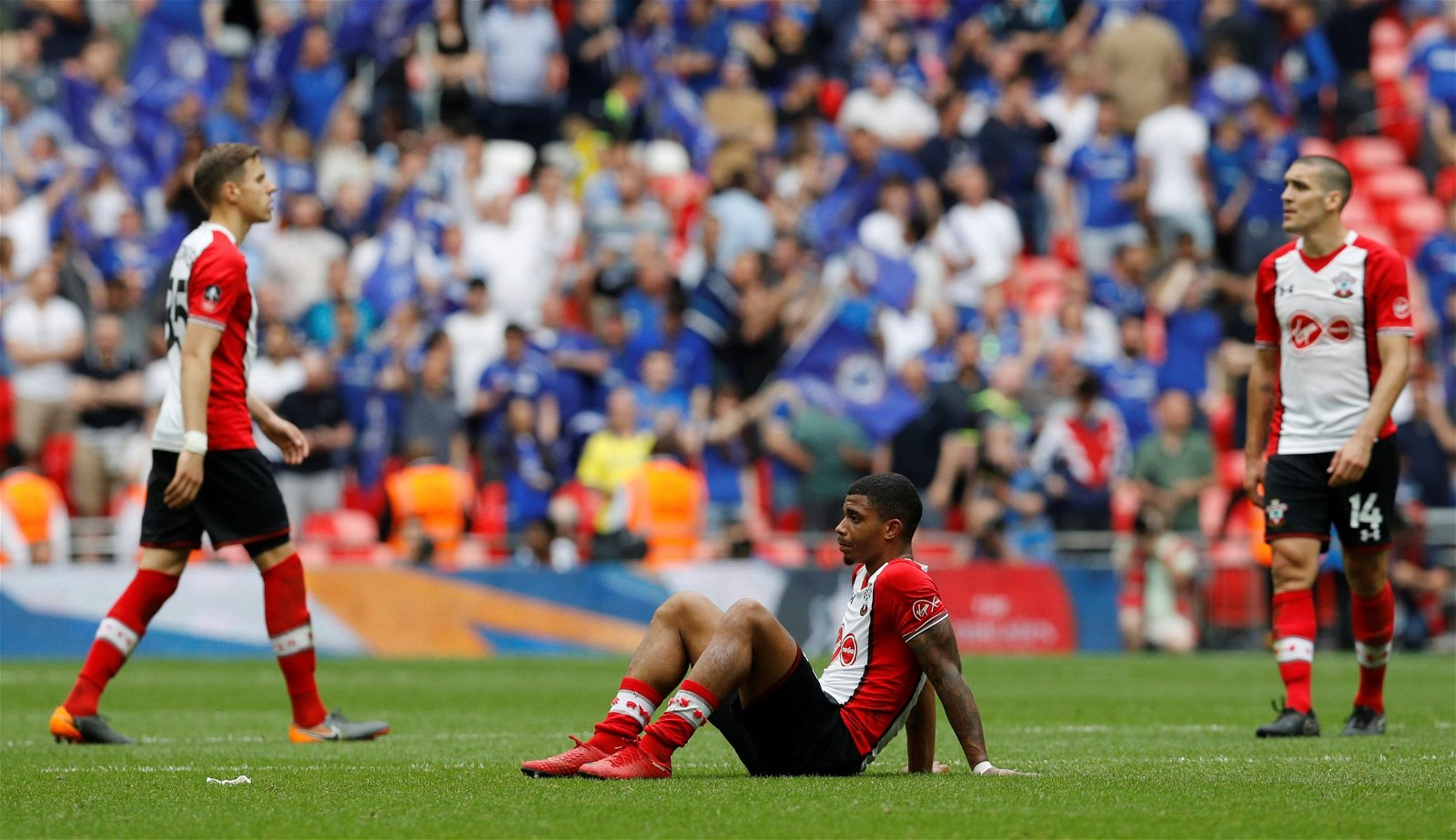 Mario Lemina sits on ground after FA Cup semi-final defeat