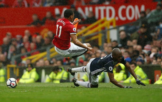Manchester United fans bash Martial for West Brom performance