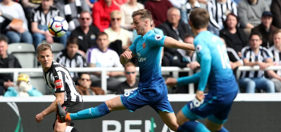 Arsenal fans were not happy with Rob Holding's display on Sunday