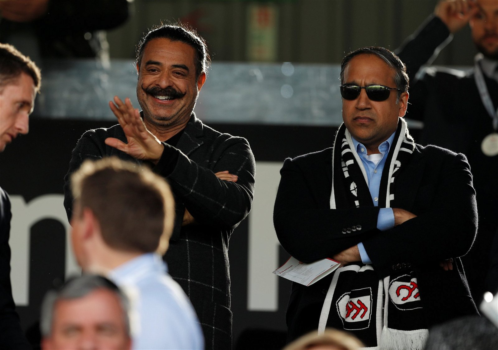 Shahid Khan waves to fans
