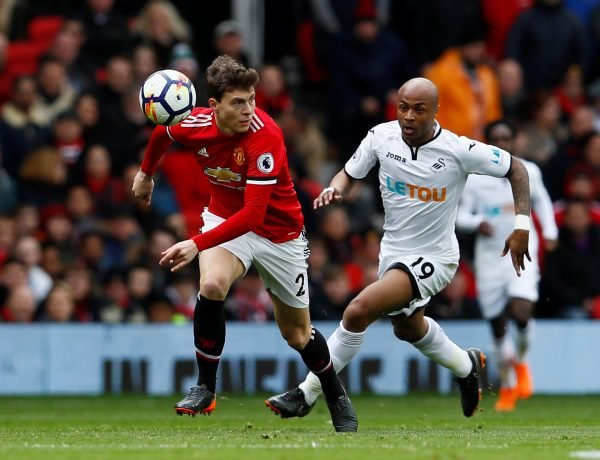 Victor Lindelof in action for Manchester United