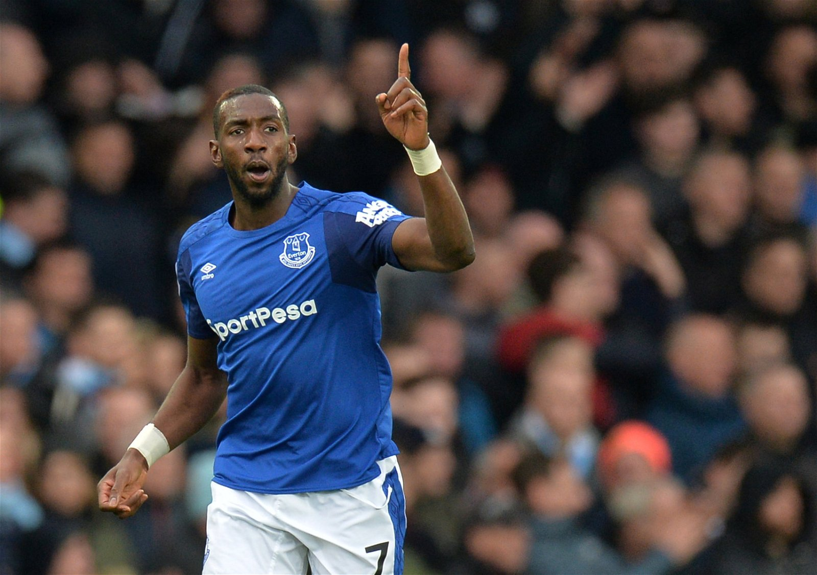 Yannick Bolasie celebrates scoring an Everton goal