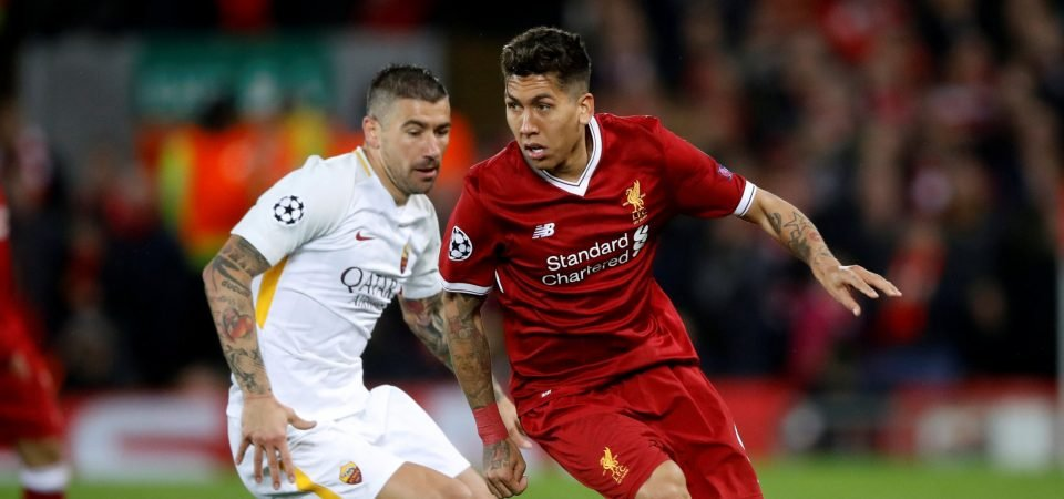 Firmino provided the perfect foil for Salah to tear Roma apart