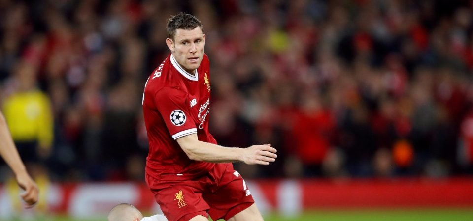 Liverpool fans react as Milner breaks Champions League assist record