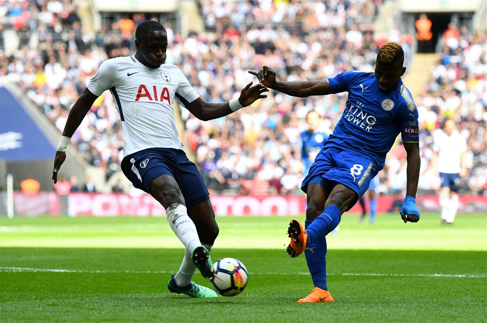 Moussa Sissoko in action for Tottenham Hotspur against Leicester City