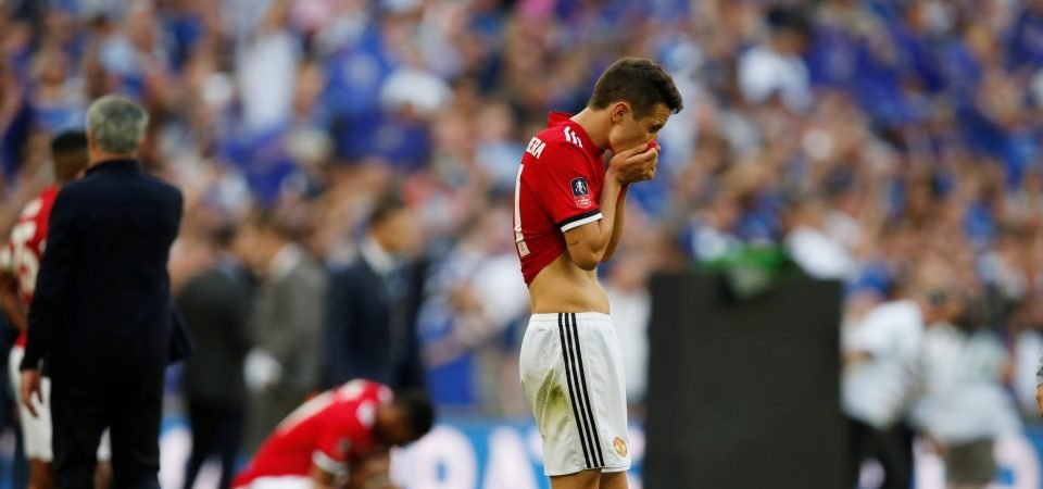 Herrera criticised by Manchester United fans for his marking job on Hazard