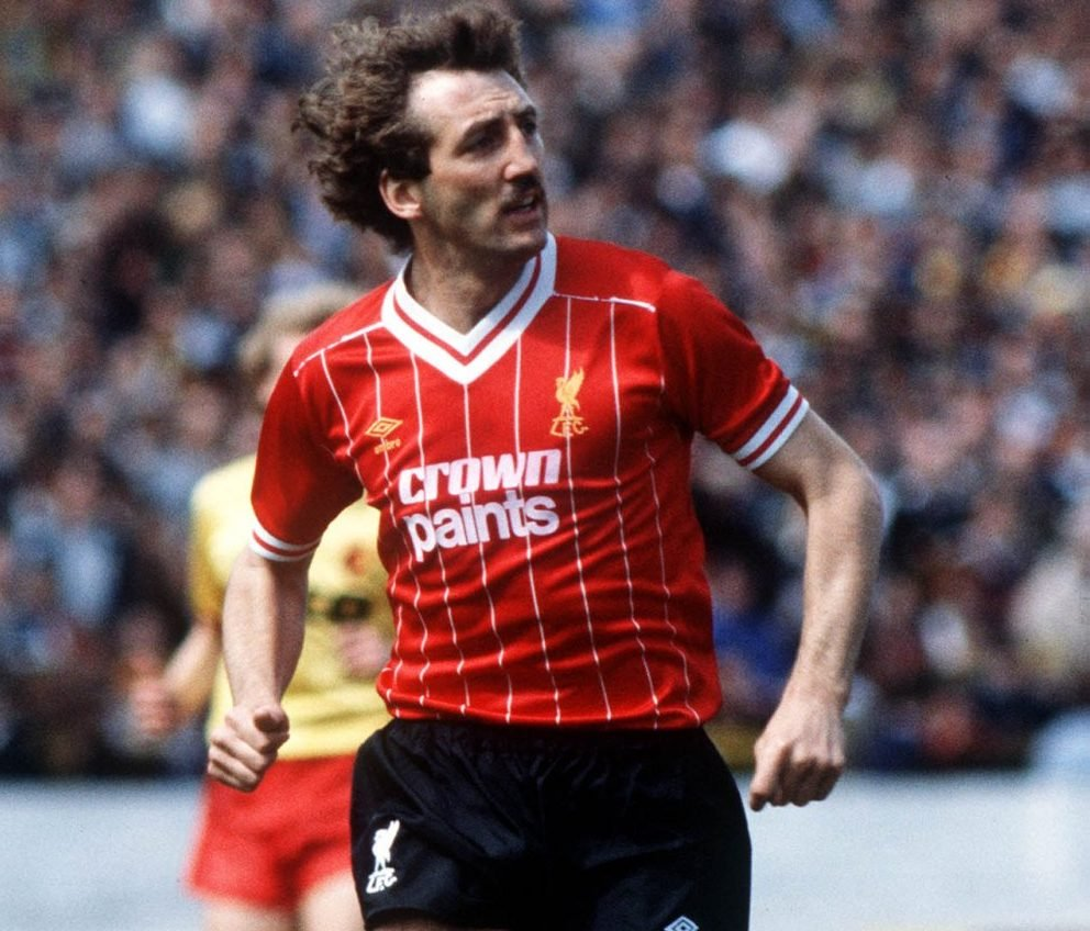 Alan Kennedy on the pitch for Liverpool
