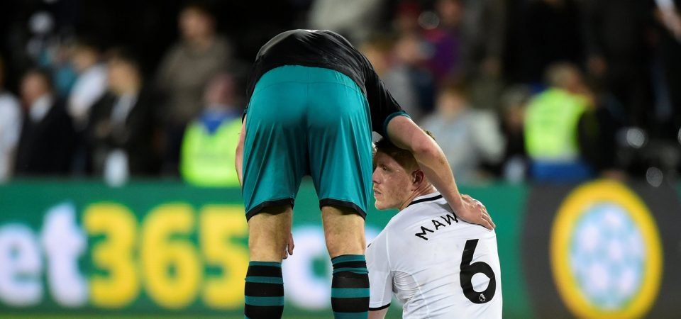 Man United fans urge club to sign Alfie Mawson as Swansea near the drop