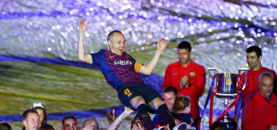 Liverpool fans urge club to sign Barcelona midfielder Andres Iniesta
