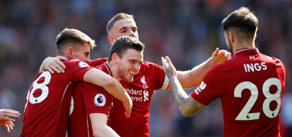 Liverpool fans pay tribute to Andy Robertson after his first club goal