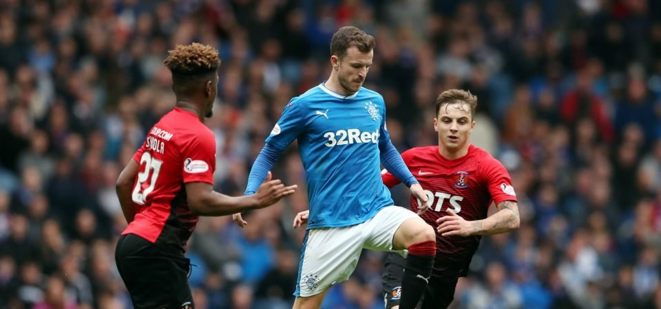 Rangers fans slam Andy Halliday for poor performance against Hibs