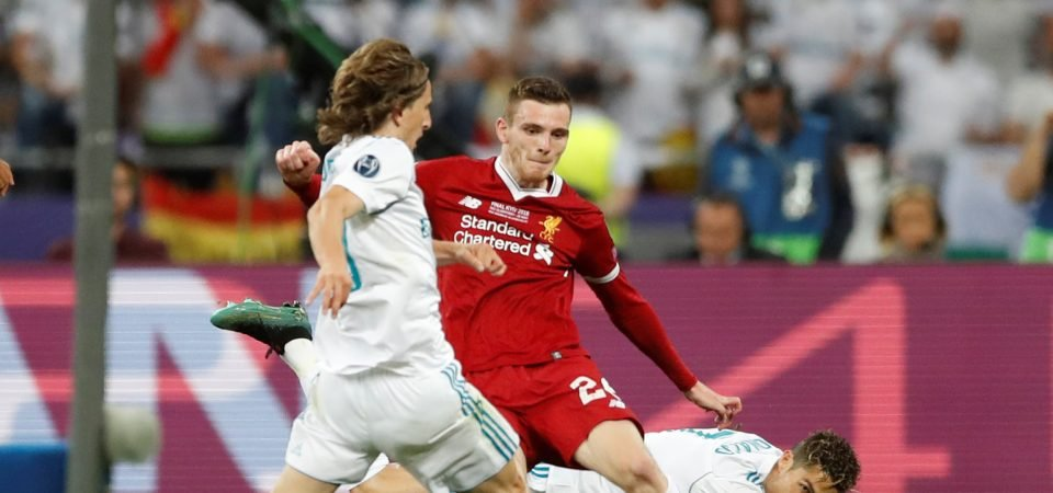 Liverpool fans loved Andy Robertson's performance despite final defeat
