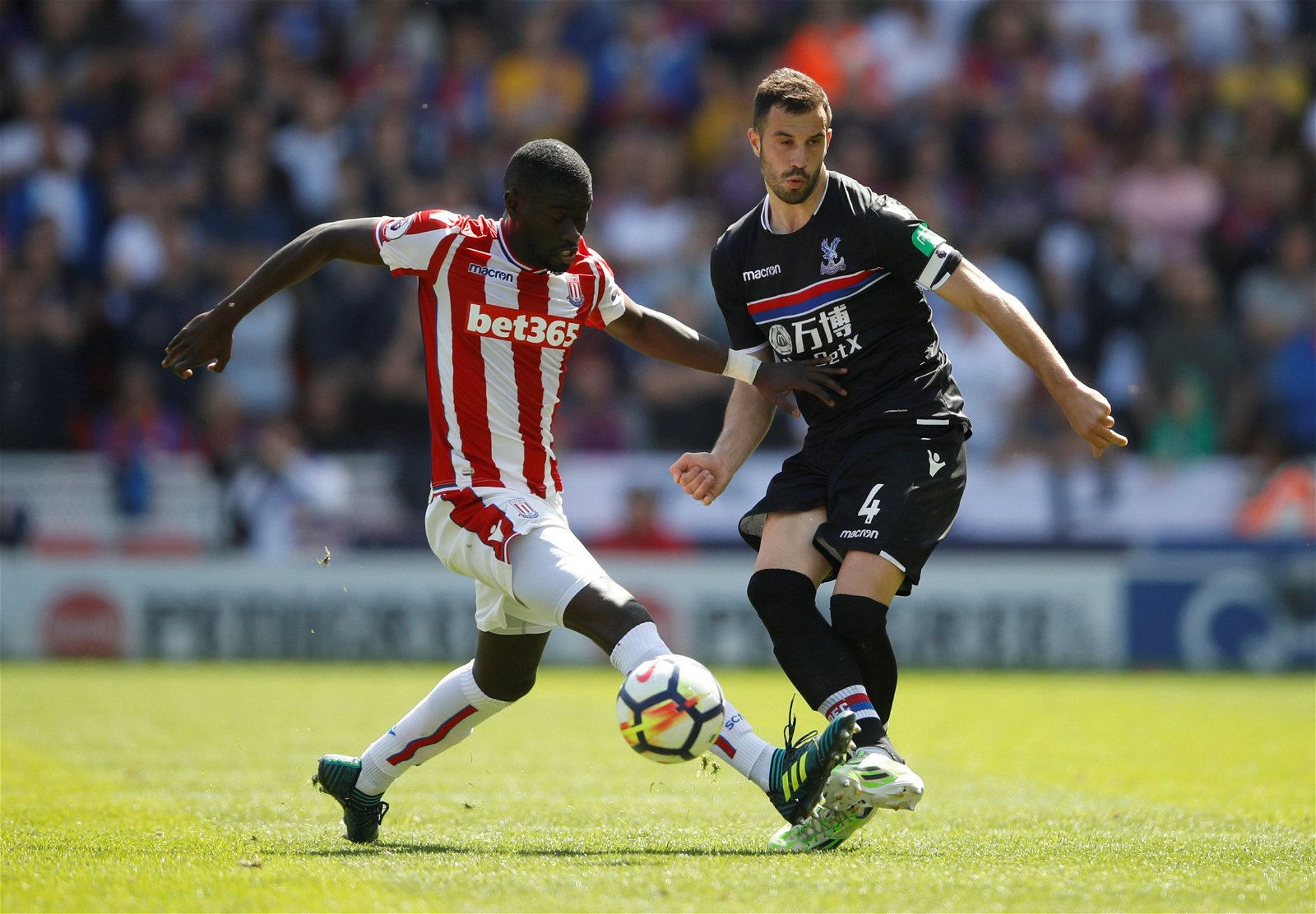 Badou Ndiaye in action against Crystal Palace