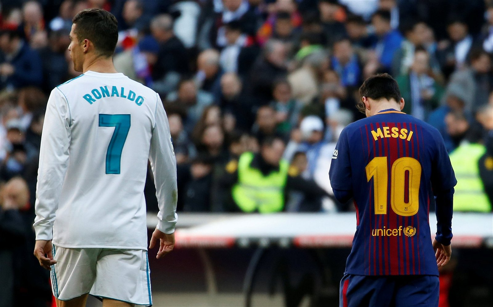 Cristiano Ronaldo and Lionel Messi side by side