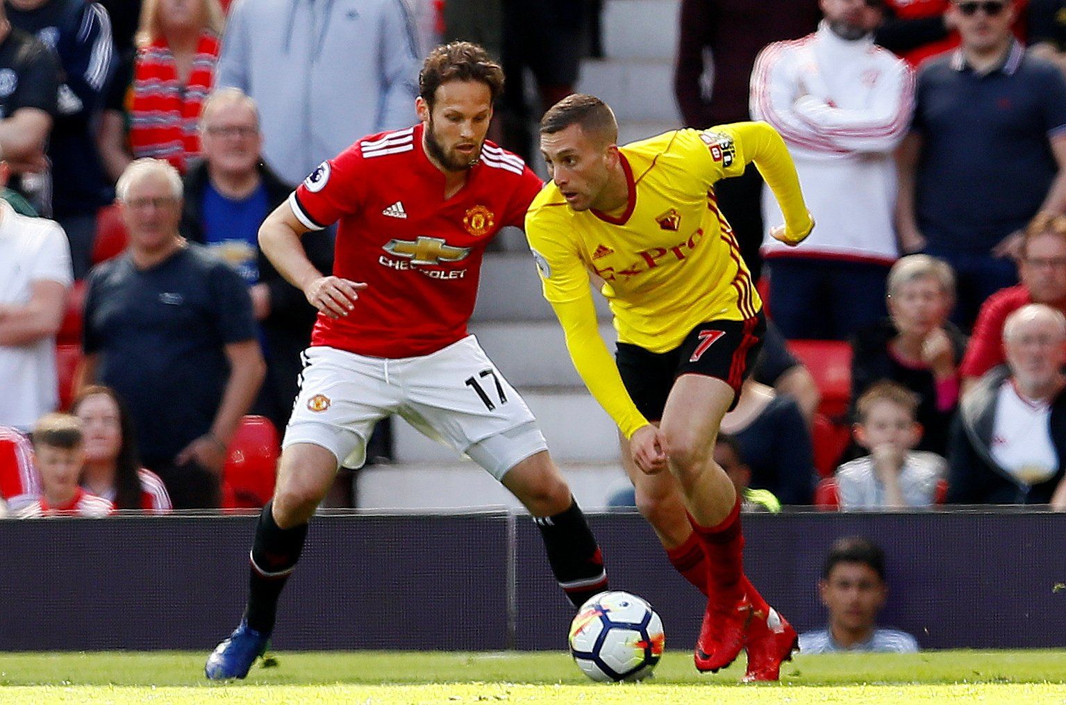 Daley Blind in action against Watford