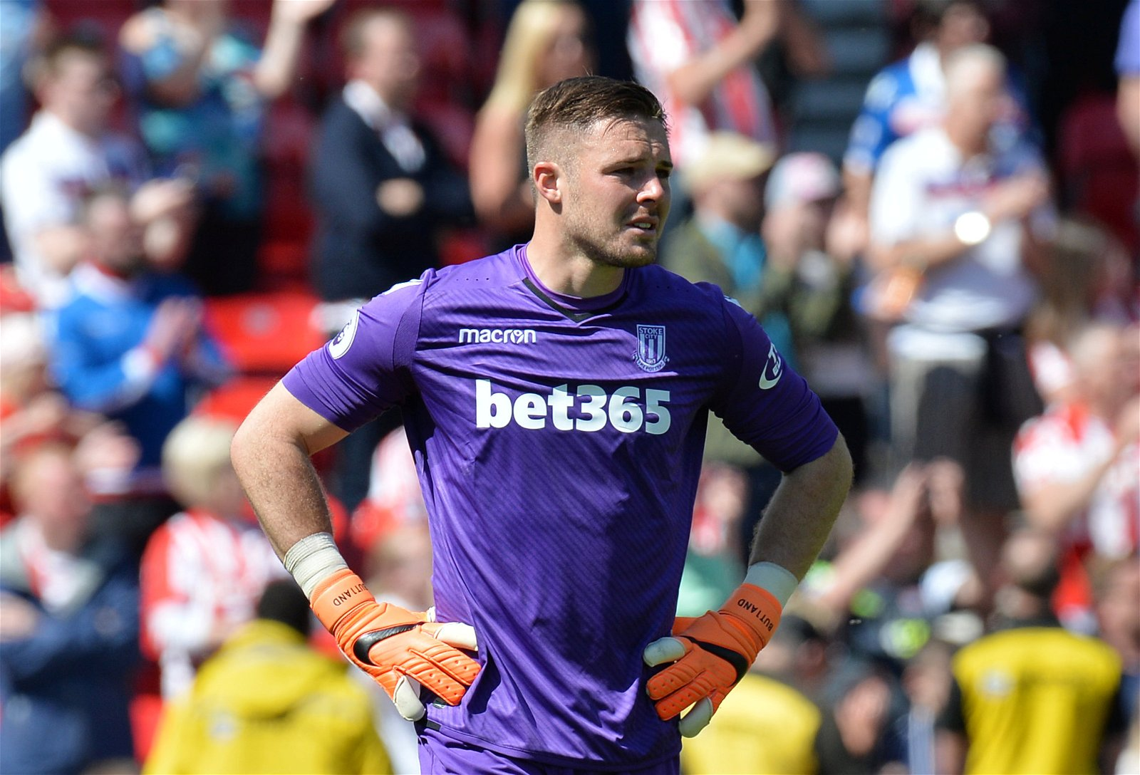 Jack Butland cries after Stoke are relegated