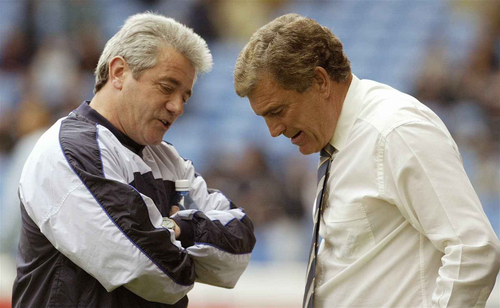 Kevin Keegan talks with Trevor Brooking