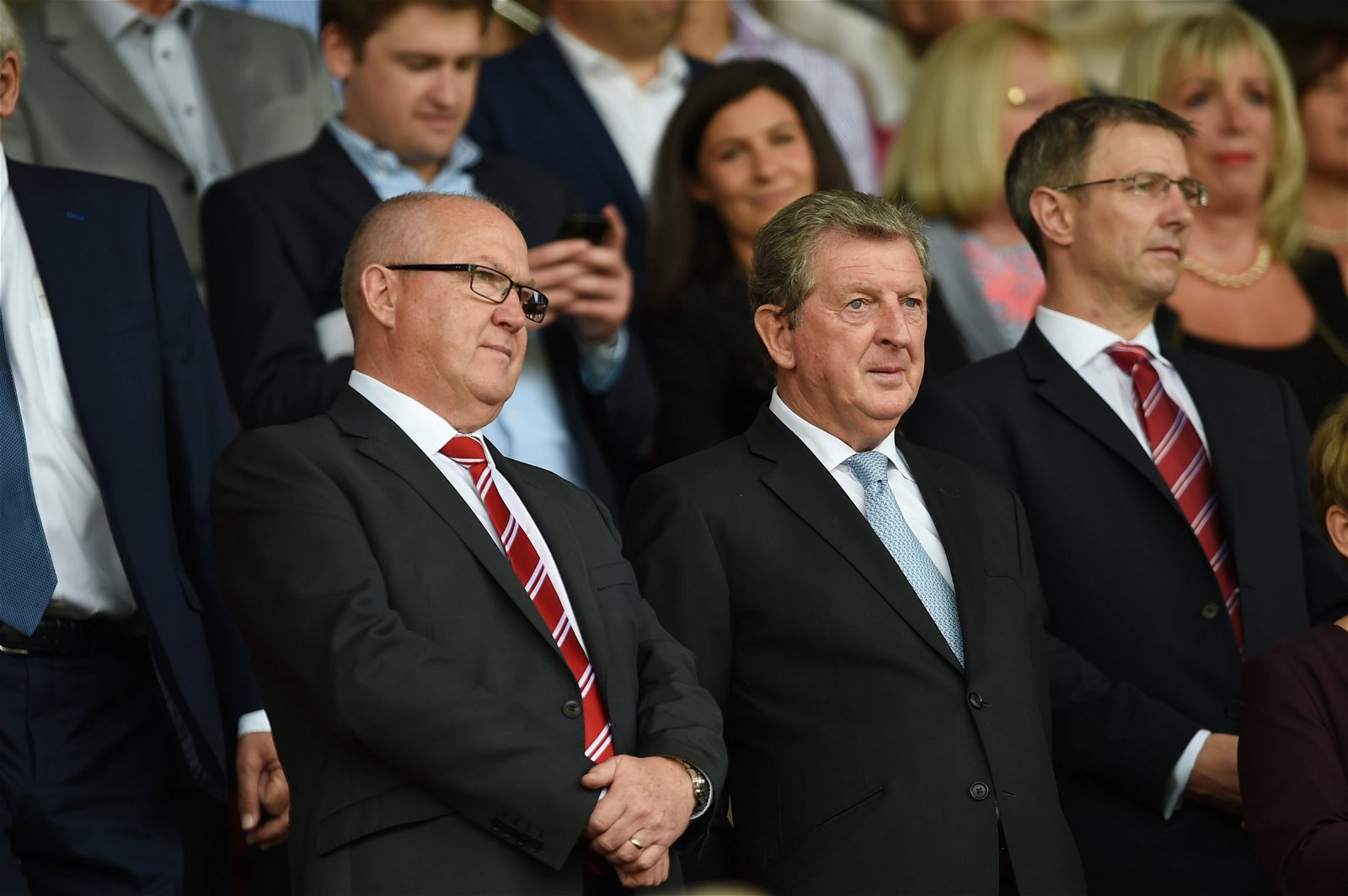 Les Reed with Roy Hodgson