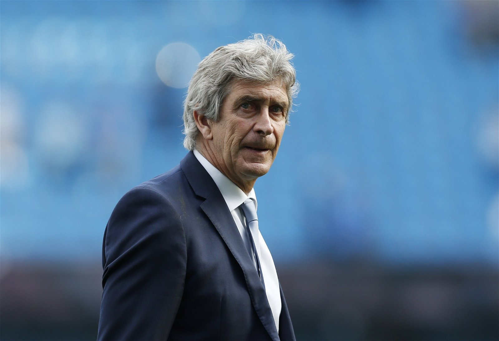 Manuel Pellegrini while in charge of Man City