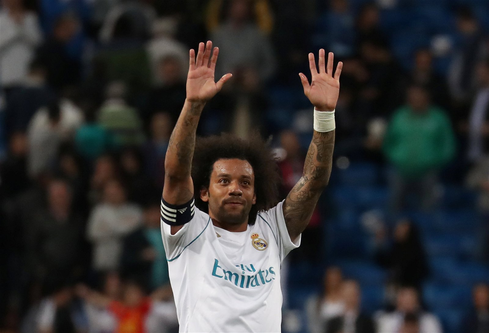 Marcelo celebrates scoring for Real Madrid