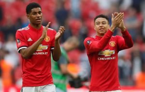 Lingard and Rashford attempt to re-create 1999 Champions League Final goal
