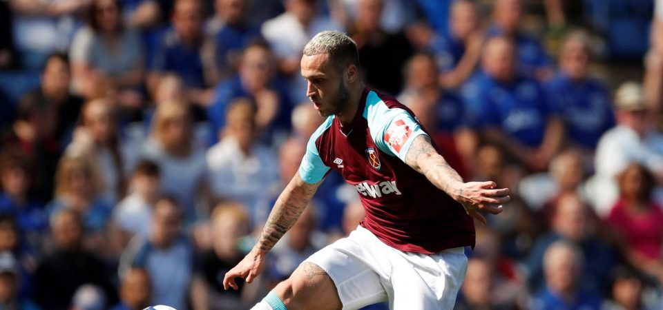 West Ham fans pay tribute to Marko Arnautovic as they avoid relegation