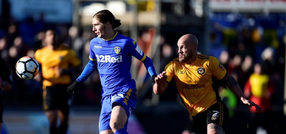 Leeds fans react as Pawel Cibicki moves closer to the Elland Road exit door