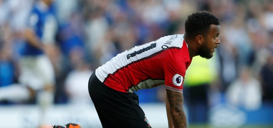 Southampton fans couldn't believe Bertrand's costly error against Everton