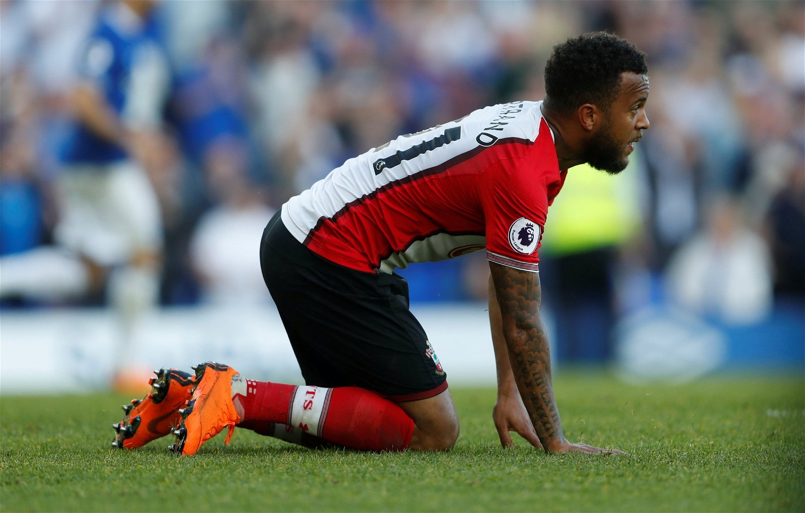 Ryan Bertrand looks dejected after Southampton concede a goal