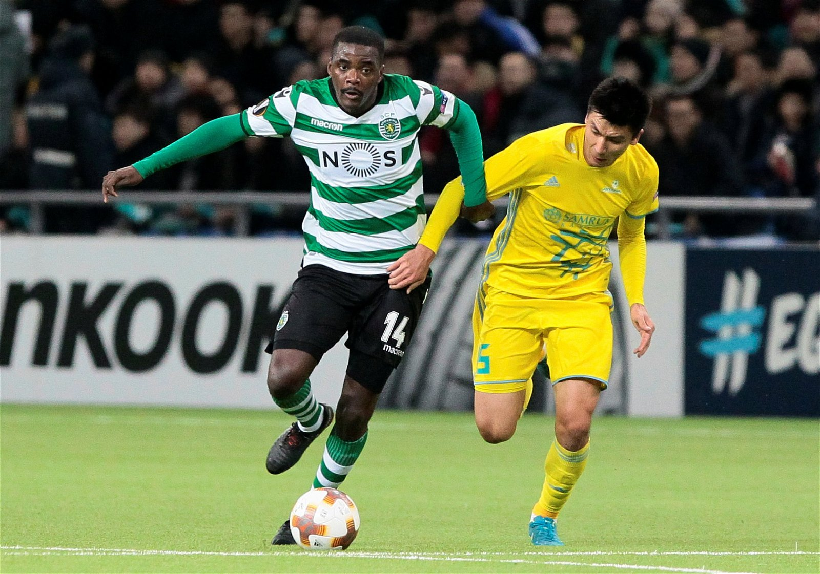 William Carvalho in action for Sporting