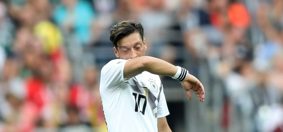 All too familiar sight for Arsenal fans as Ozil struggles on global stage
