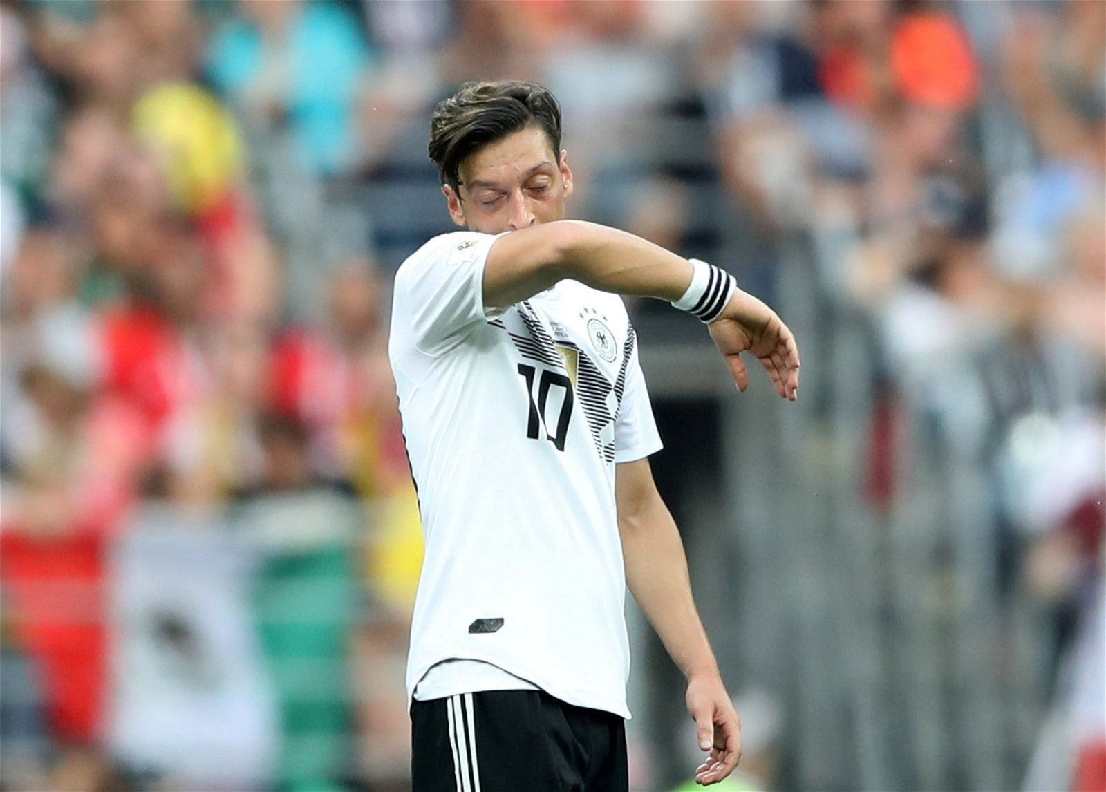 Mesut Ozil in action for Germany in their World Cup clash against Mexico