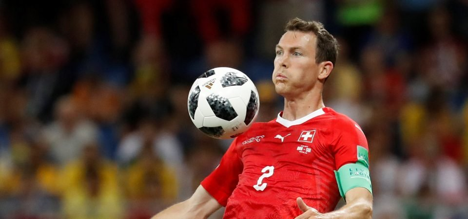 Lichtsteiner shows Arsenal against Brazil that he might be best playing at centre-back