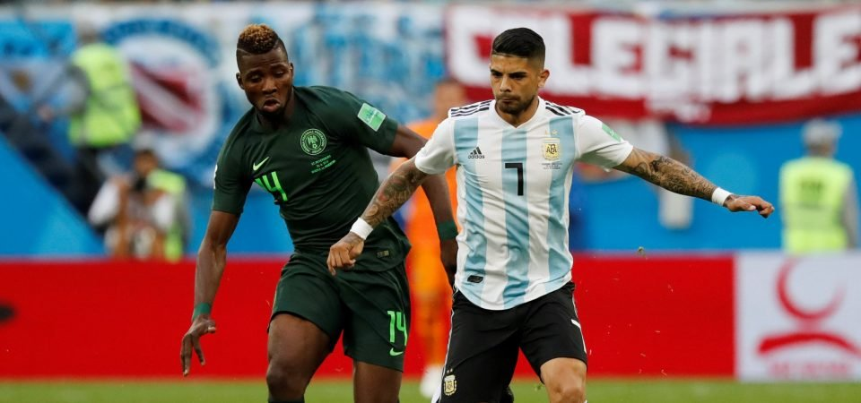 Arsenal fans wax lyrical about Banega following Argentina victory