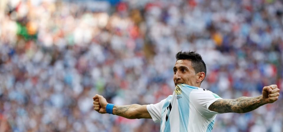 Arsenal fans hail Angel di Maria following stunning goal for Argentina at World Cup