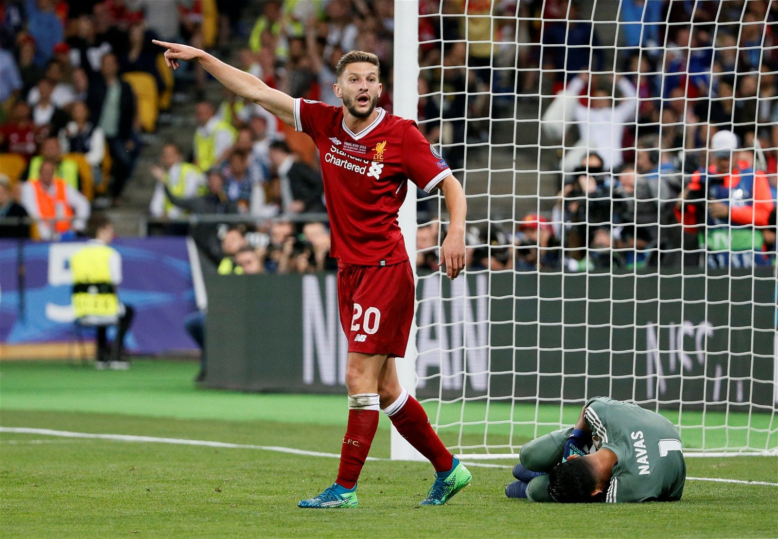 Adam Lallana reacts during Champions League final