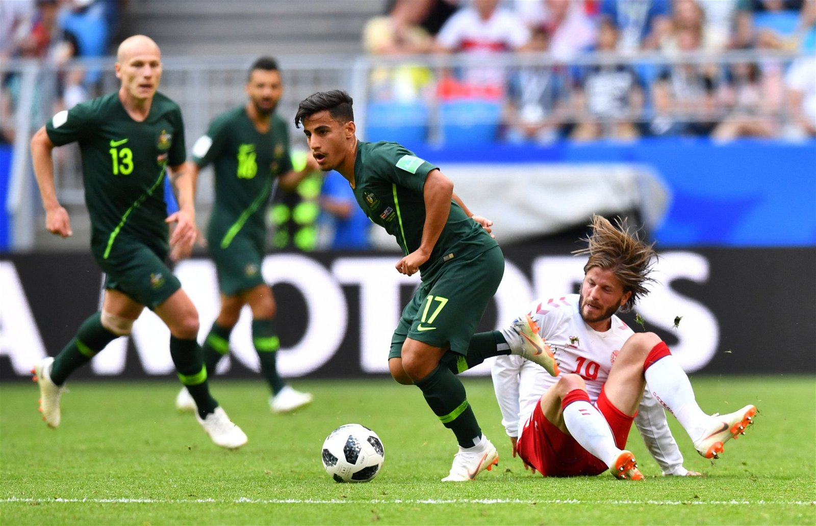 Daniel Arzani in action for Australia