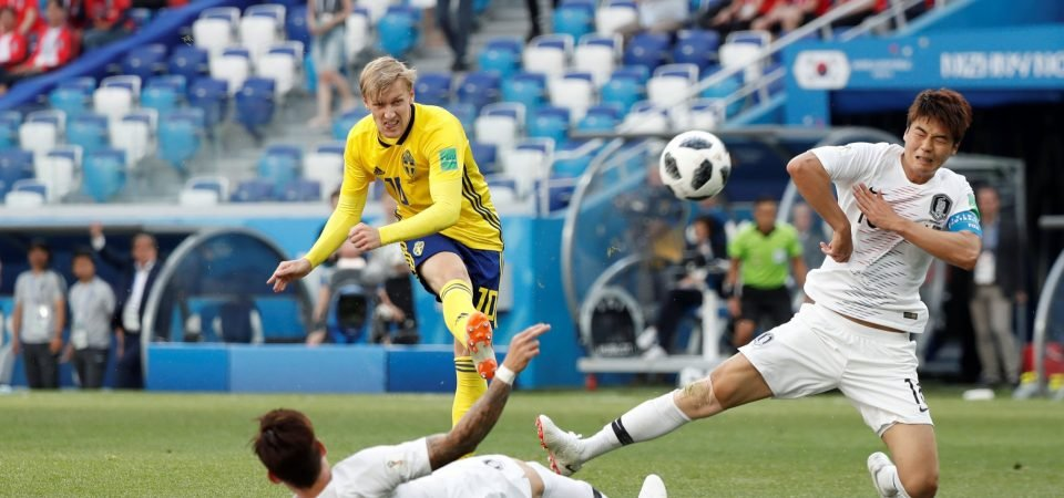 Arsenal fans don't want club to sign Emil Forsberg after latest Sweden display