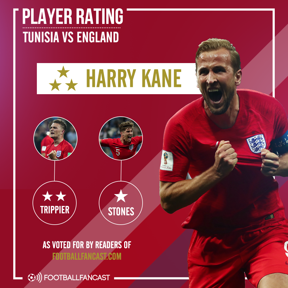 England's Player Ratings from win over Tunisia
