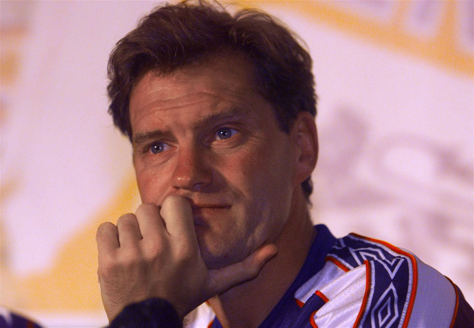 Glenn Hoddle at England's news conference