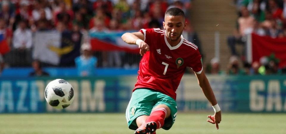 Everton fans urge club to sign Hakim Ziyech after latest Morocco display