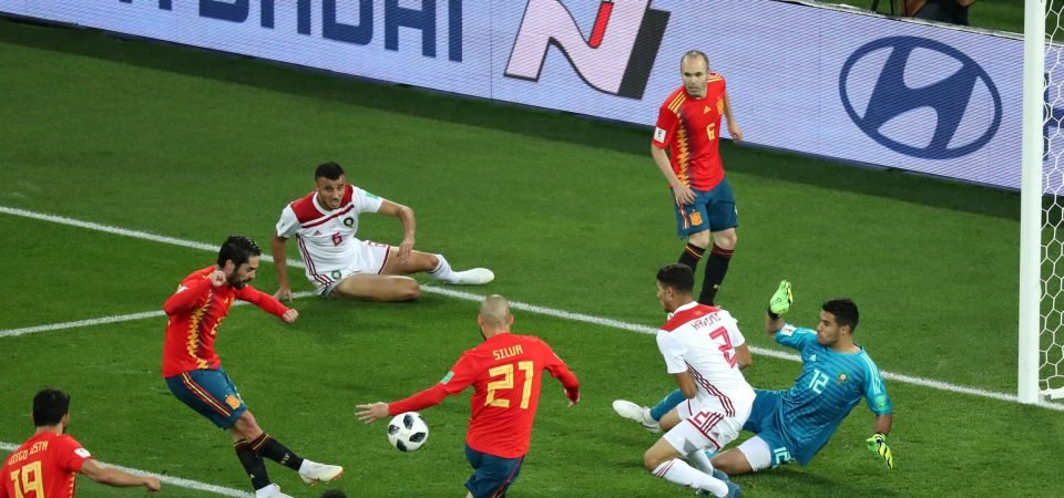 Man United fans want to sign Isco after he shines in Spain draw with Morocco