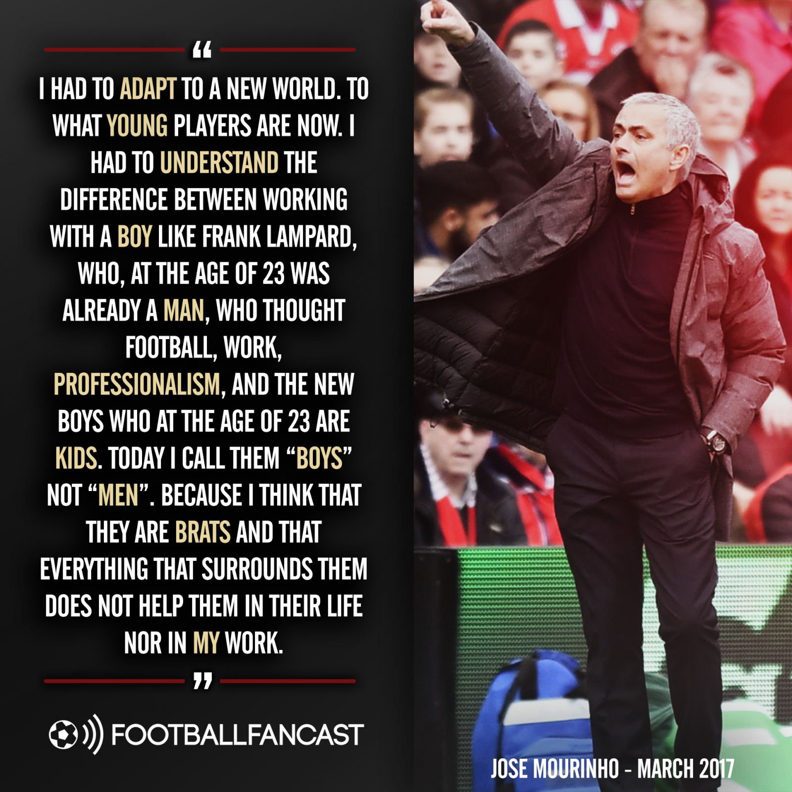 Jose Mourinho's brats quote from March 2017